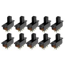 10 Pcs 6 Pins 2 Positions DPDT On/On Mini Slide Switch N3