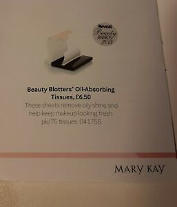 MARY KAY Beauty Blotters Oil Absorbing Tissues *BRAND NEW* AWARD WINNING