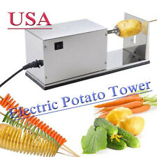 Automatic Electric Potato Tower Chips Slicer Twister Cutter 110v Vegetable Usa