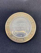 Horseshoe Casino Bossier City LA Collector Series $10 Token .999 Fine Silver