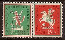 GERMANY 1958 FOX HORSE SC # B360-B361 MNH