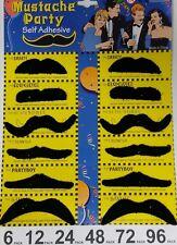 Stick on fancy dress moustaches Tash Tashes Fake moustache Mexican lot Movember