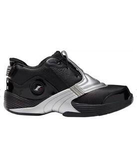 Reebok ANSWER V Unisex Black/Silver Basketball Shoes Sneakers Men's US Size 8