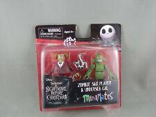 Nightmare Before Christmas Minimates Series 4 Zombie Sax Player & Undersea Gal
