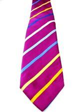 Charles TYRWHITT corbata púrpura – multicolores rayas Sevenfold