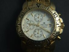 Gents Oskar Emil Caesium  Gold  Plated Chronograph Sports Cream Dial Watch