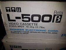 Pioneer L-500 Beta Video Tape - 10 PcS - Blank - NOS