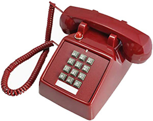 Telephones Land Line Corded Old School Phone Single Desk Hearing Impaired
