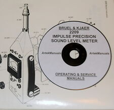 Bruel & Kjaer 2209 Sound Level Meter Manuals, Ops & Service + Schematics 2Volume