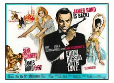"James Bond 007 ""From Russia With Love"" Sean Connery Sticker or Magnet"
