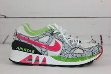 Nike Air Stab Women's White Pink Green Black Sz 10.5 Running Shoes Nike iD
