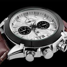 Montre Luxe Militaire Top Qualité Homme Mégir Cuir Date Chronograph Etanche
