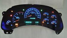 5L) 05 2005 DURAMAX DIESEL GMC TRUCK 2500HD 3500HD COMPLETE BLUE LED CLUSTER IPC