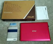 "Notebook Laptop ASUS EeePC F201E Win10 11,6"" 320 GB HD Intel HDMI USB 3.0 in Rot"