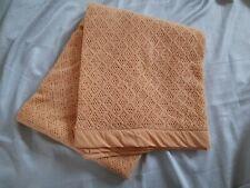 Vintage Large Orange Honeycomb Blanket