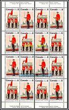 4x CANADA 1976 CANADIAN ROYAL MILITARY FACE $1.28 MNH STAMP CORNER BLOCK SET LOT