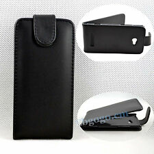 Black PU Leather Flip Pouch Skin Hard Cover Case For HTC Windows iPhone 8 X