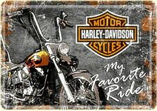Harley Davidson My Favourite Ride metal postcard / mini-sign 140mm x 100mm (na)