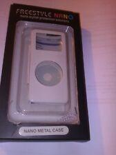 Ipod NANO case, White, Metal, NEW and boxed for original model only