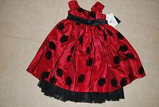 NWT Marnellata Girls 4 special occasion holiday dress - Burgandy / black - NEW