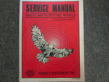 1985 1986 1987  Harley Davidson FX Softail Models Service Repair Shop Manual NEW