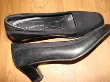 Women'S Shoes Blk Leather/Micro Career Naturalizer 6.5N