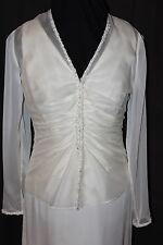 NWT Size 6 ivory chiffon second wedding dress/matching jacket, Jasmine formal
