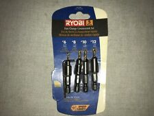 New Ryobi Countersink Set R2008 5pc 6 8 10 12 Sizes And Hex Wrench