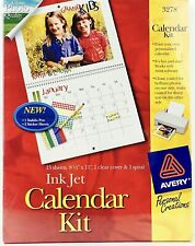 Avery Ink Jet Calendar Kit Glossy Photo Quality Personal Creations w/ Stickers
