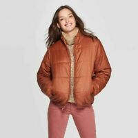Universal Thread Womens 1X Brown Puffer Jacket Winter Snow Plus New