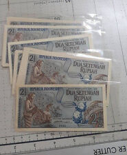 Indonesia 2 1/2rp  Banknote UNC 1961 5pcs Running number