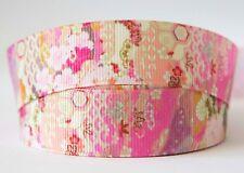 1M X 22mm Grosgrain Ribbon Craft DIY Cake Decoration Hair Bows Japanese Pink