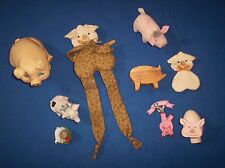 9 Little Pig Figurines, Little Pig Collection