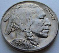 1938-D Buffalo Nickel in a SAFLIP® - BU