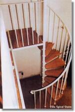Bespoke 1370mm Stratford Spiral Stairs in solid hardwood & steel