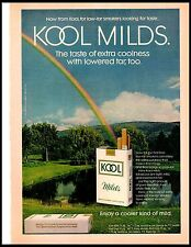 1972 Kool Milds Cigarette Rainbow Mountain Vintage Print Ad