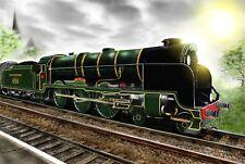 LORD NELSON STEAM LOCOMOTIVE/TRAIN. A3 FULL COLOUR ART PRINT.