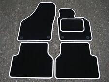 Tapis de voiture Noir/blanc bordure pour VW / VOLKSWAGEN TIGUAN (2007-2016)