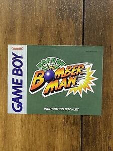 Pocket Bomber Man - Authentic - Nintendo Game Boy - Manual Only!