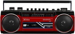 SANSUI Bluetooth radio cassette Player USB/SD/MP3 SCR-B2 RD
