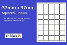 A4 White Multi-Purpose 35 to view 37mm x 37mm Self adhesive labels (500 Sheets)