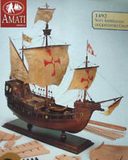 """Brand new, gorgeously detailed wooden ship kit by Amati the """"Santa Maria"""" 1492"""