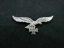 German Luftwaffe Eagle with Iron Cross Custom Silver Plated Badge