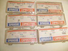 Don't Be Vague Ask for Sprague Capacitors ! Vintage caps, 6 Boxes   / f3