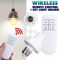 E27 Light Bulb Socket Adapter Lamp Holder Wireless Remote Control Lighting Base