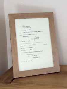 George Best Signed & Framed Resignation Manchester United - Select Option