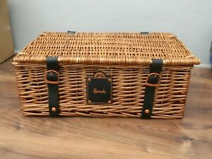 harrods wicker hamper basket