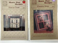 Lot of 2 Bears Paw Designs Quilt Patterns Sewing #9037 #8921 Quilting