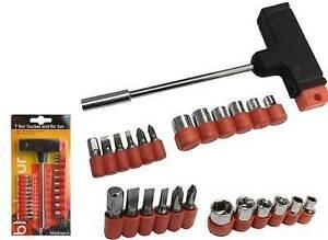 T-Bar Screwdriver 13 Pcs T Handle Screwdriver Socket & Bit Set Screwdriver Set