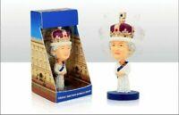 QUEEN Elizabeth II Royal Commemorative Bobble Head 15 cm Resin Figure Ornament